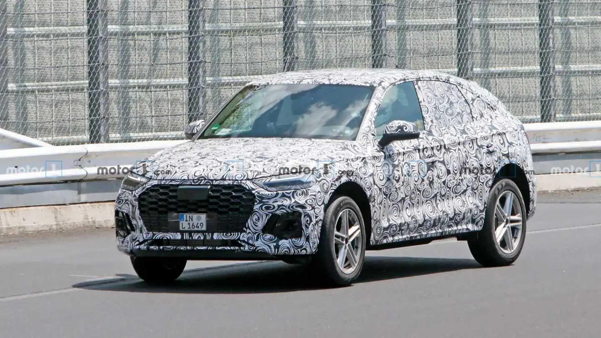 2020 - [Audi] Q5 Sportback - Page 7 2021-audi-q5-sportback-front-quarter-view-spy-photo