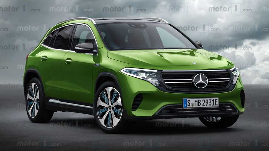 Mercedes-Benz EQA: this rendering accurately predicts its look