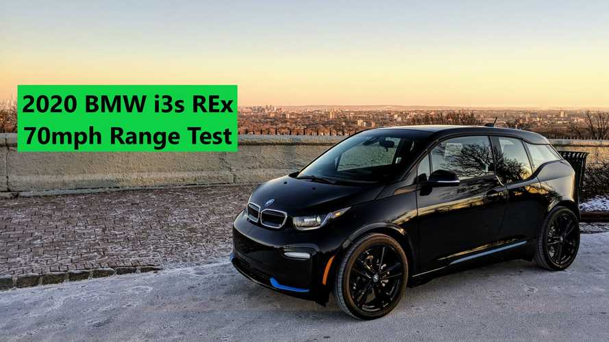 2020 BMW i3s REx 70 MPH Highway Range Test