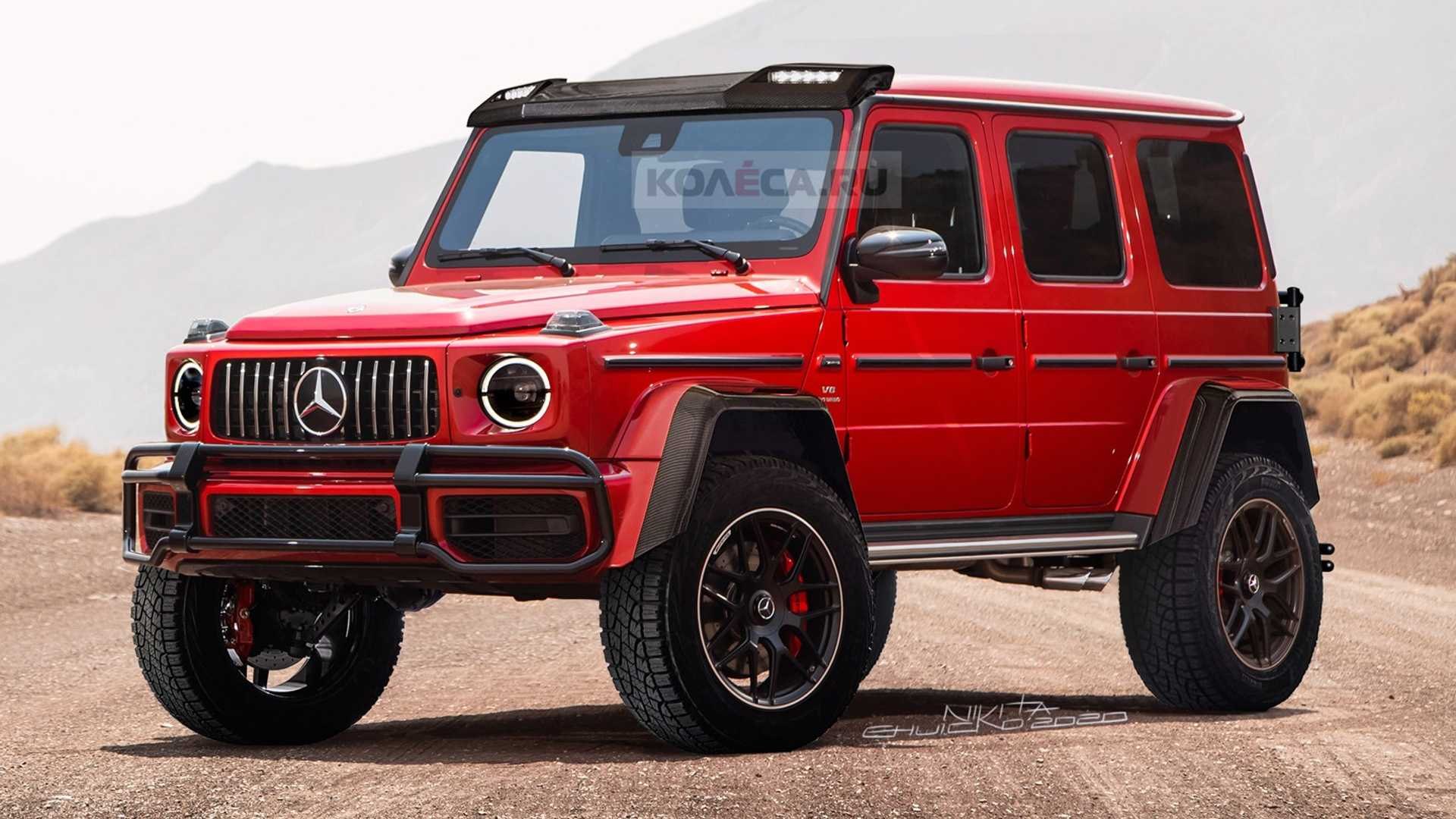 Mercedes G Class 4 4 Renderings Take After The Spy Photos