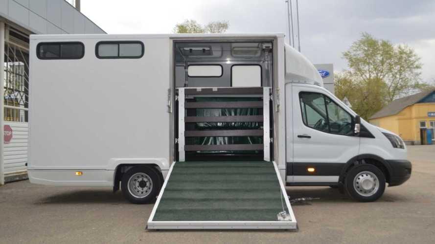 Ford построил в России фургон для перевозки лошадей