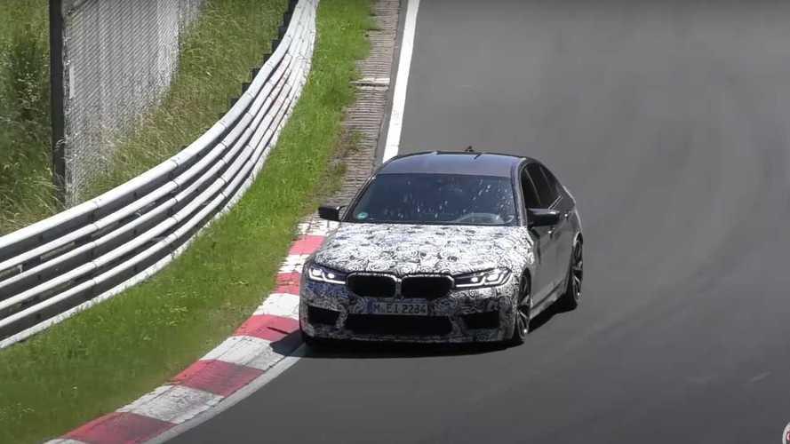 BMW M5 CS, Nürburgring'in tozunu atarken görüntülendi