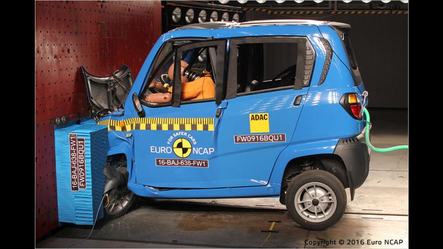 EuroNCAP-Crashtest zu vierrädrigen Kleinstfahrzeugen (2016)