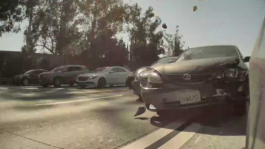 Watch Tesla Model 3 Get Smashed By Reckless Driver: $23,000 In Damage