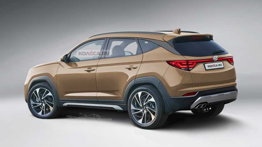 2021 Hyundai Tucson Rendering Takes After The Latest Spy Shots