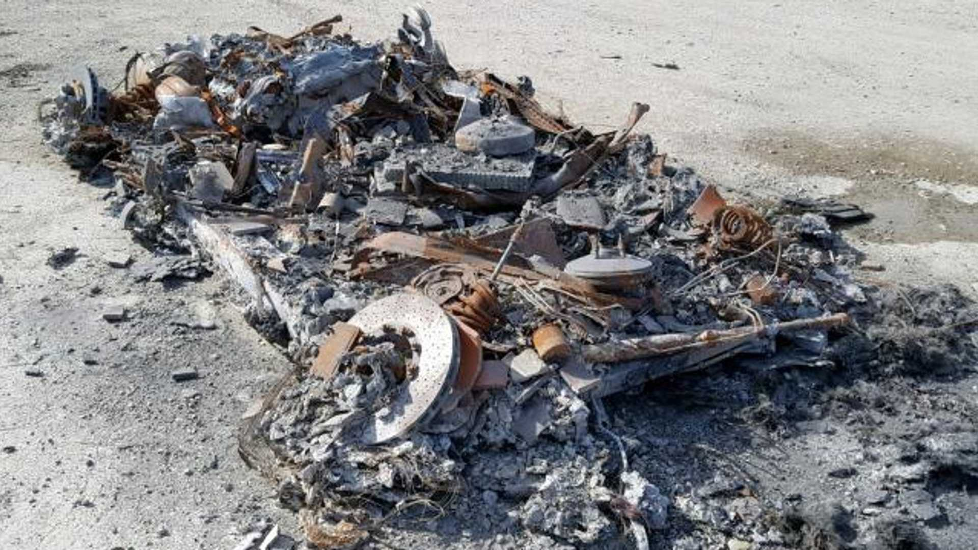 "[""Fire-Ravaged Heap Of A 2014 Ferrari 458 Spider For Sale""]"