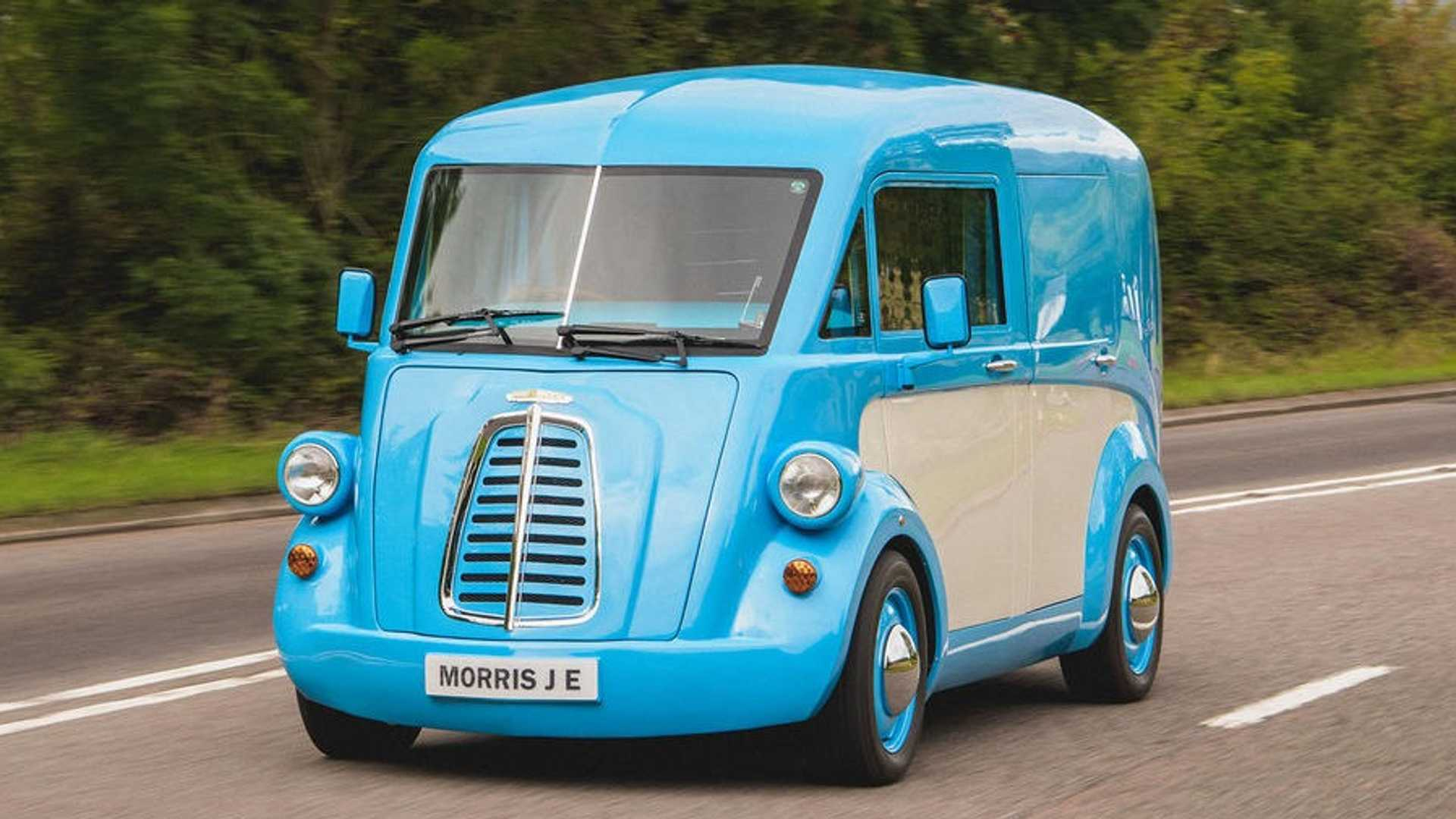 Morris Commercial JE: Elektro-Lieferwagen mit tollem Retro-Design