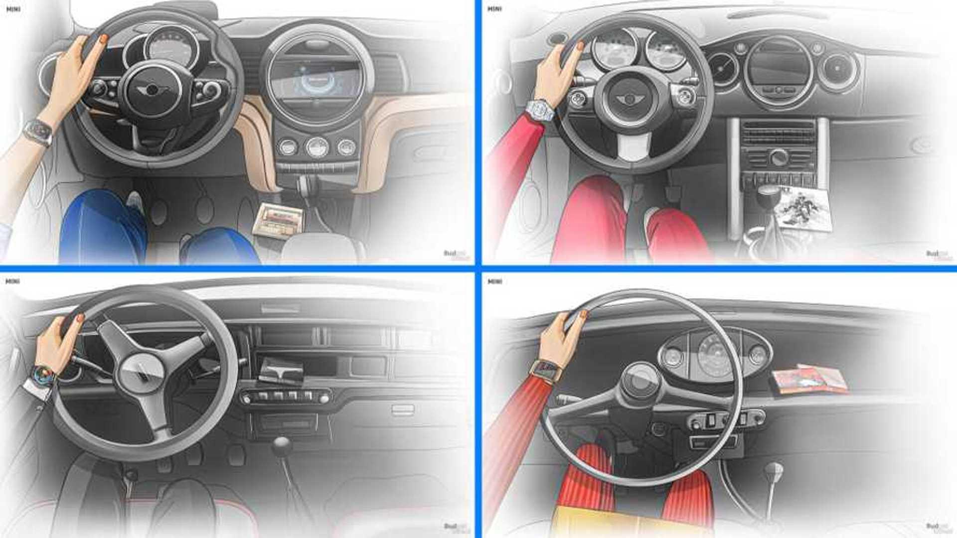 Check Out The Mini Cooper Interior's Evolution Over The Decades
