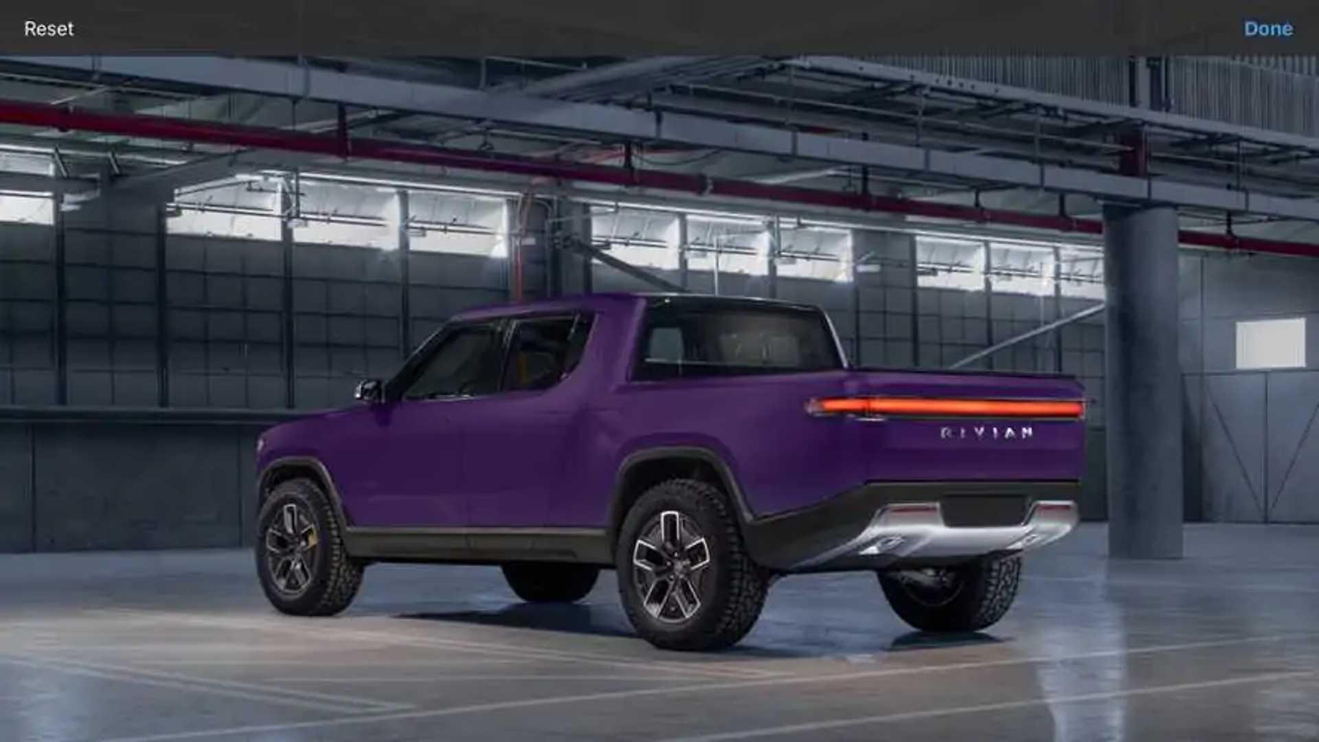 Rivian R1T purple