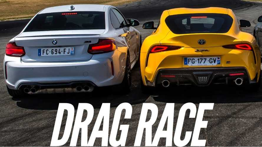 M2 Competition drag races new Supra, BMW engine wins