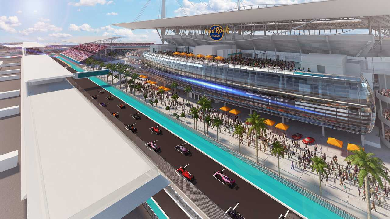 Miami GP starting line illustration