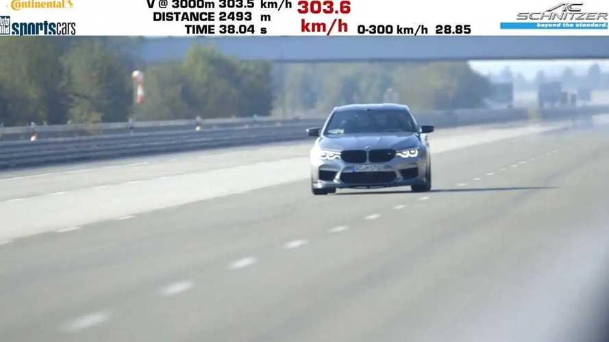 BMW M5 Competition 0-300 28 másodperc alatt