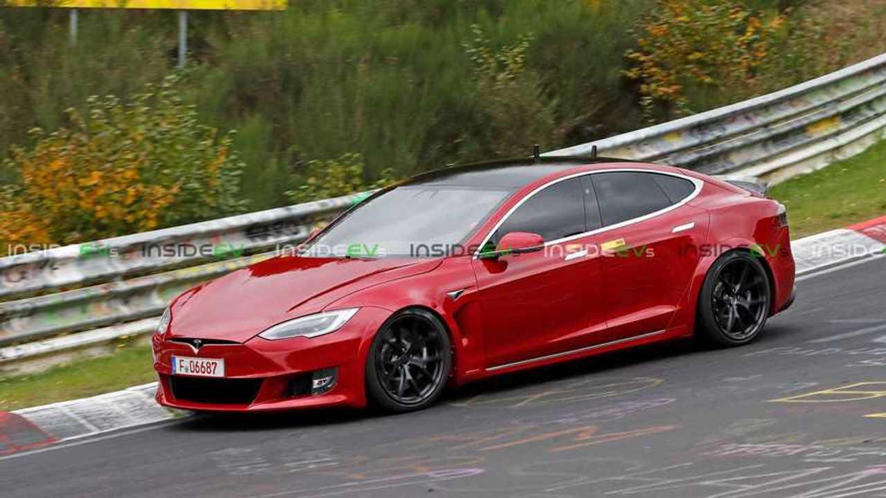 Tesla Model S Plaid Spied