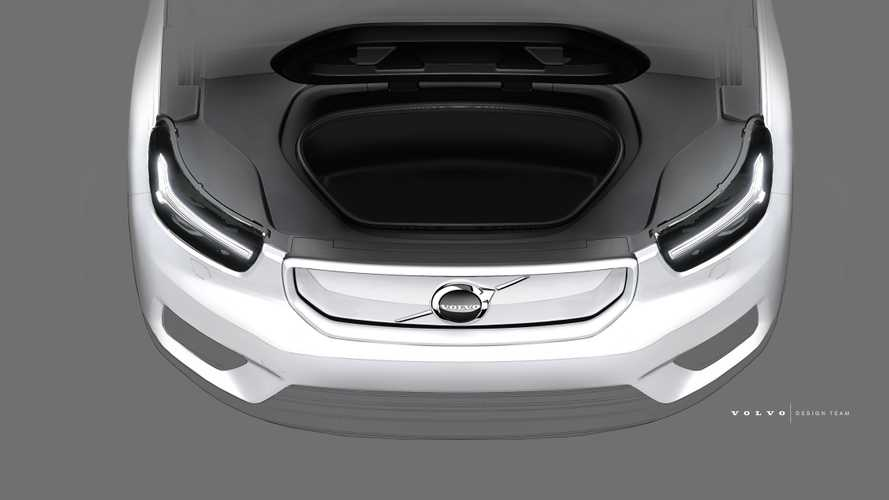 Volvo XC40 Electric Reveals Front Trunk In New Teasers