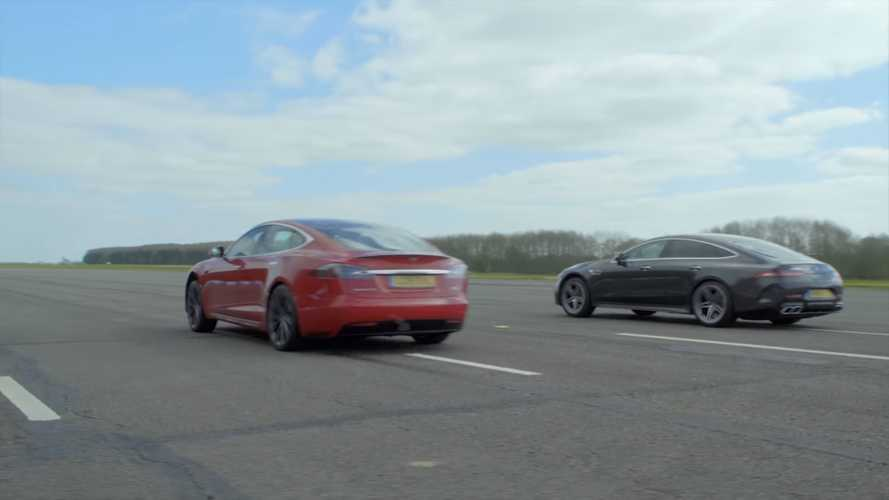 Tesla Model S P100D Vs Mercedes-AMG GT 63 4-Kapılı Sedan