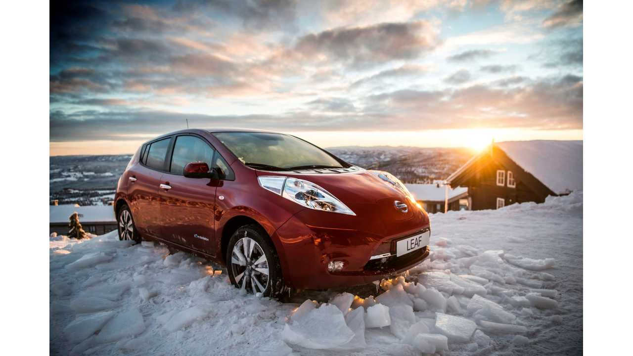 Nissan breaks the ice as new Nissan LEAF 30 kWh hits showrooms