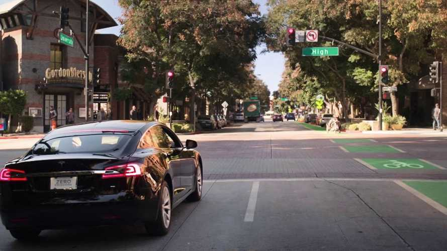 Watch Tesla Model S Crash Following Race Against Trike