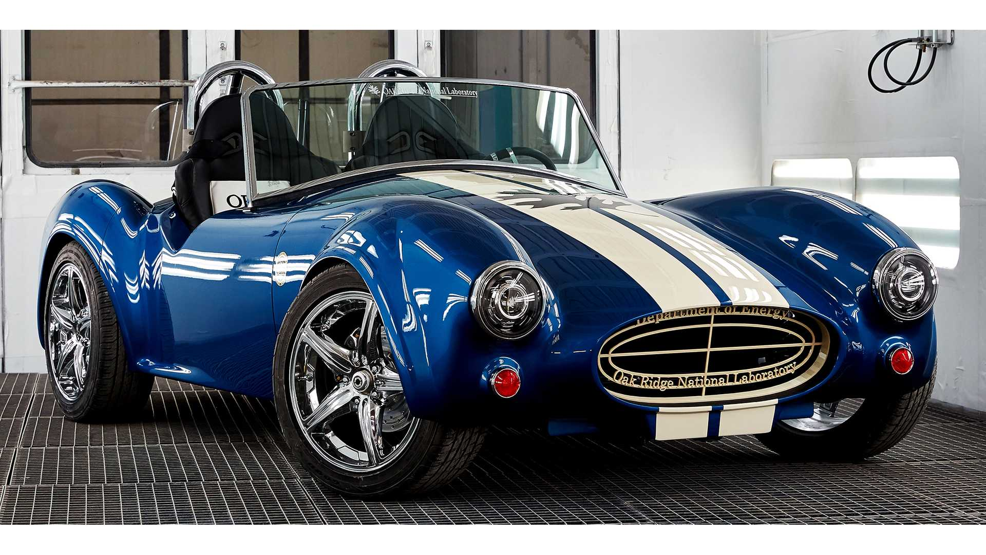 Tm4 Ed Electric Printed Shelby Cobra Replica On Display At 2017 Naias W Video