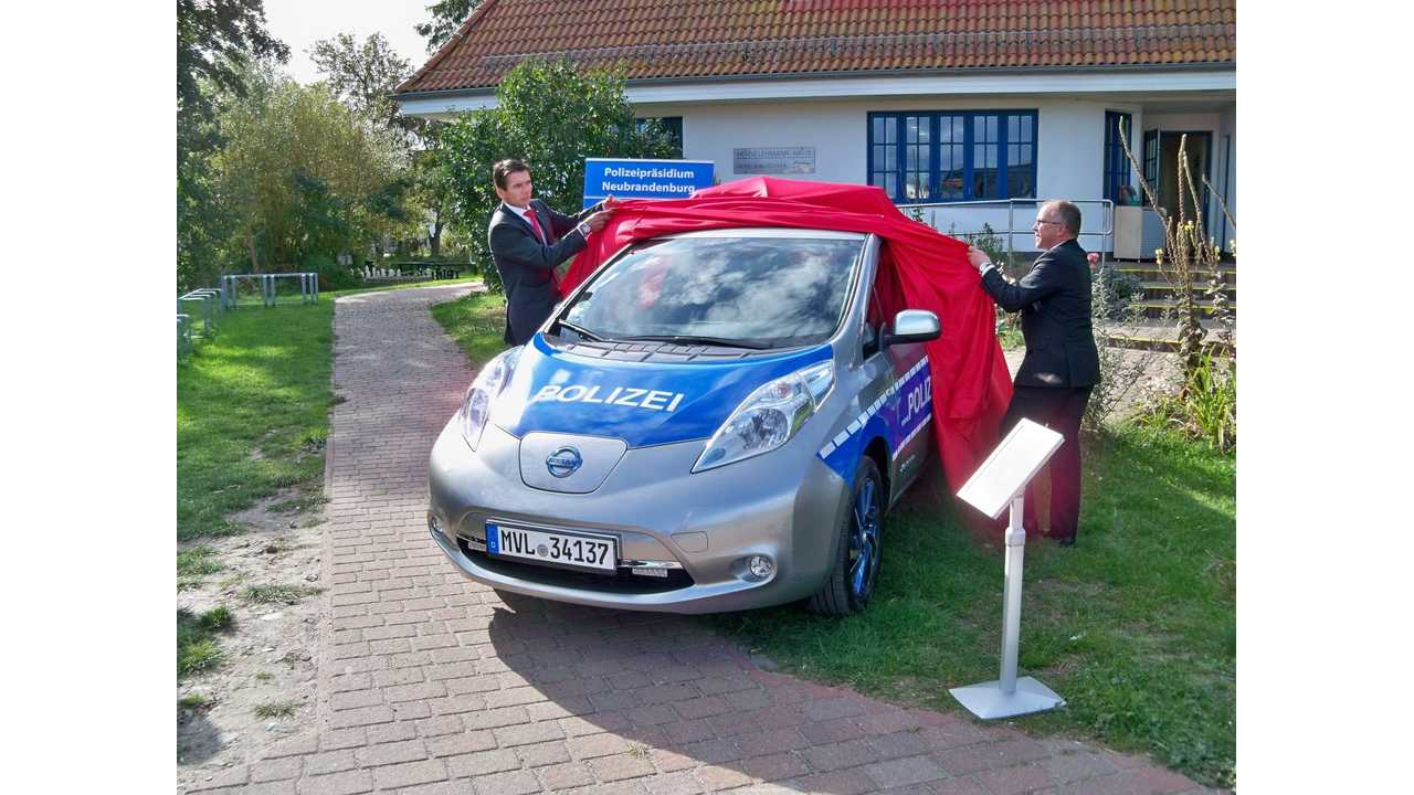 Nissan LEAF Converted To Police Car In Germany