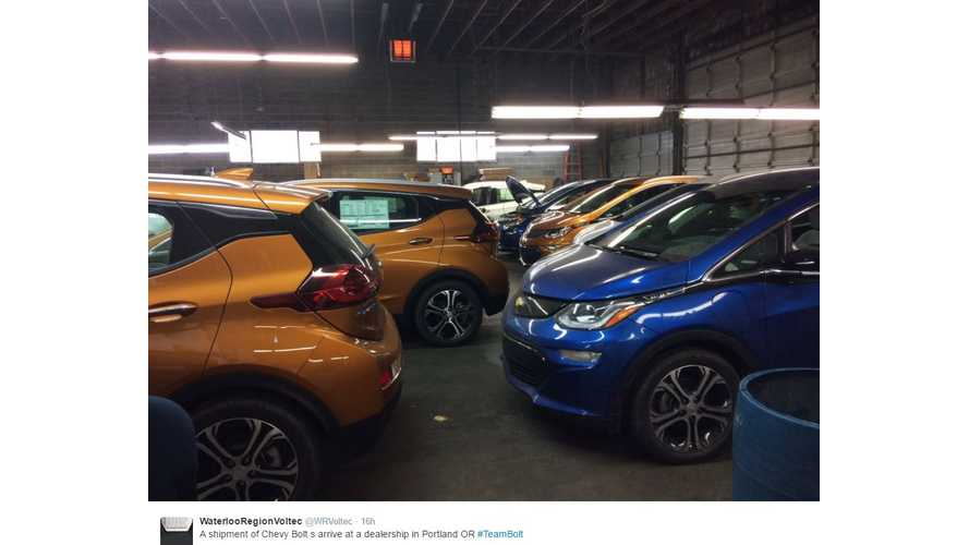 Chevrolet Bolts Arrive En Masse In Portland, Oregon