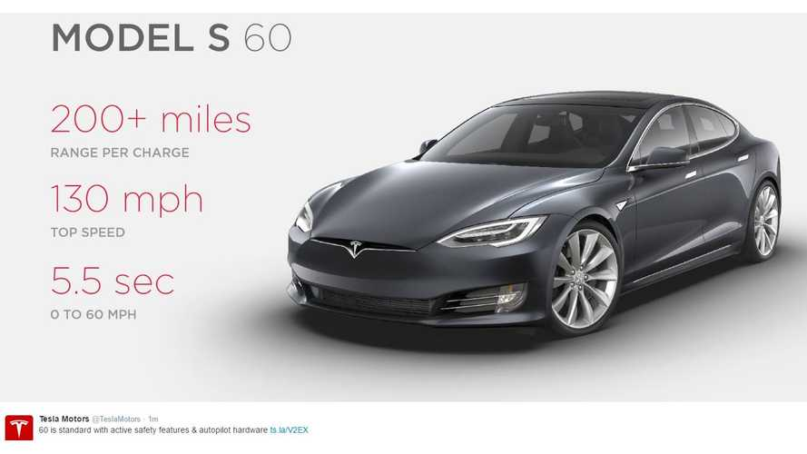 Tesla 60 & 60D Added To Model S Lineup - Pricing Starts At $66,000
