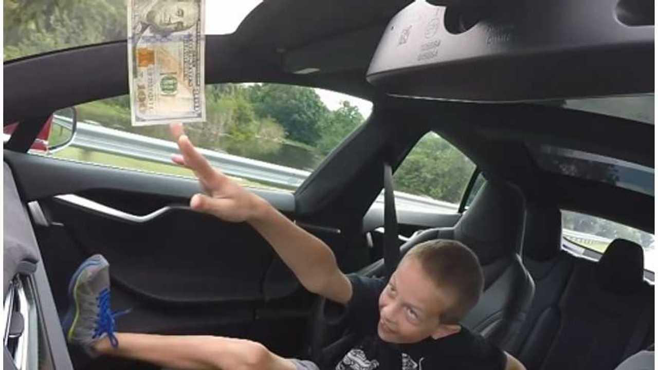 $100 Bill Tesla Model S Ludicrous Challenge