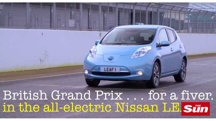 Completing The 52-Lap, 190 Mile British Grand Prix For £5 In A Nissan LEAF - Video