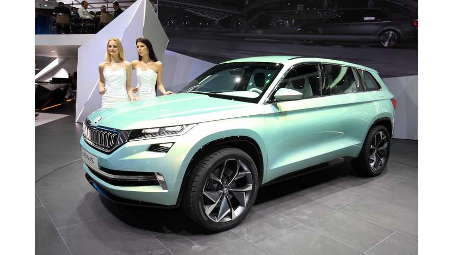 Škoda VisionS Unveiled At The 2016 Geneva Motor Show (Live Photos, Videos)