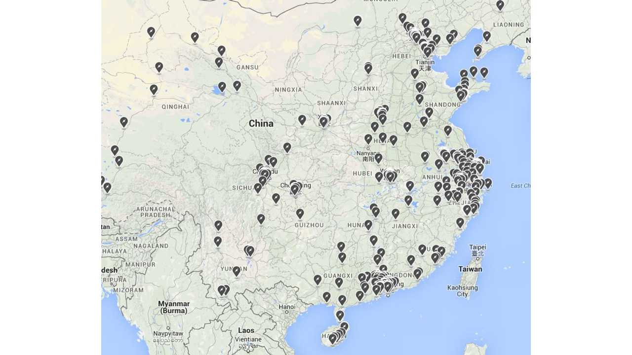 Tesla Destination Chargers To Be Installed At 6 Shopping Malls In China