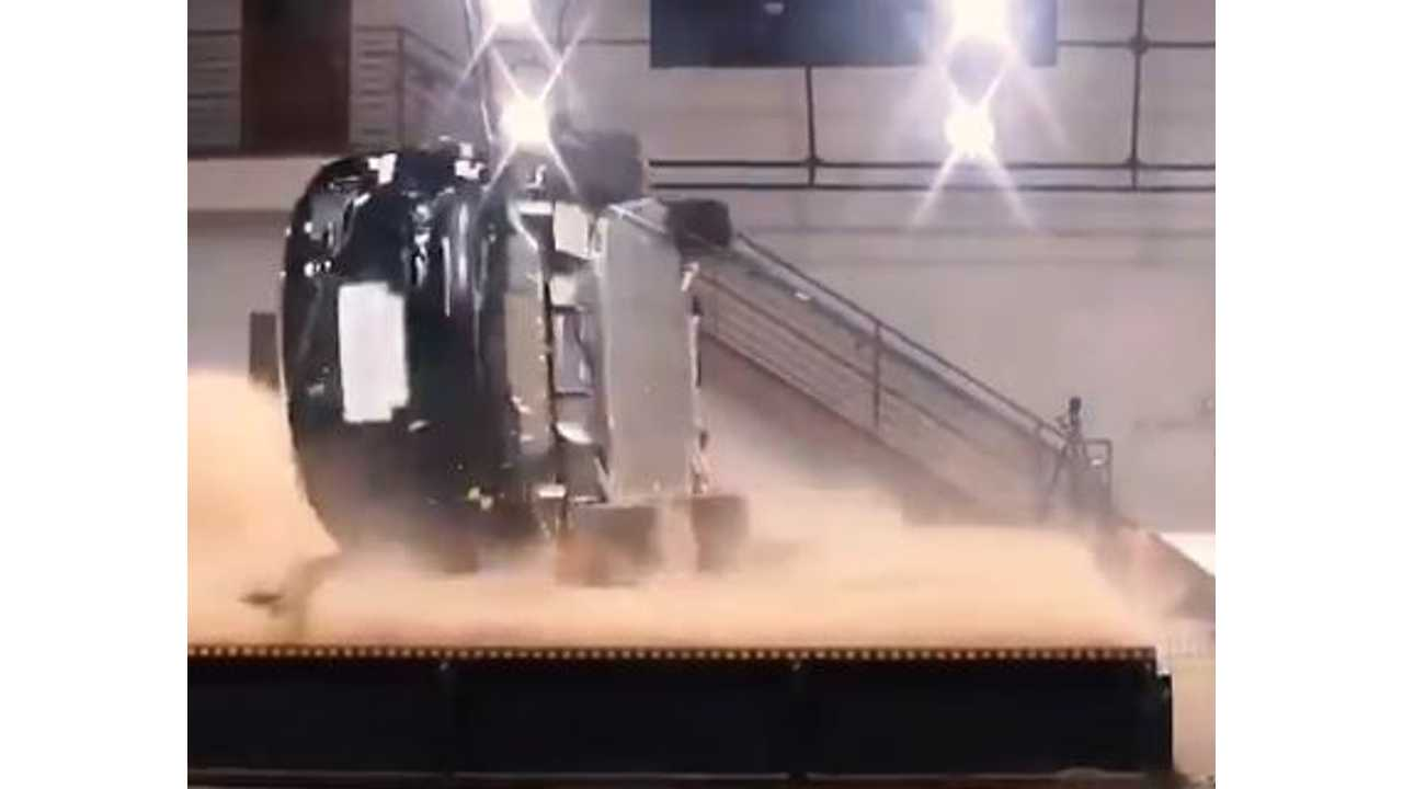 Watch Tesla Try To Roll Over The Model X ... Not An Easy Task