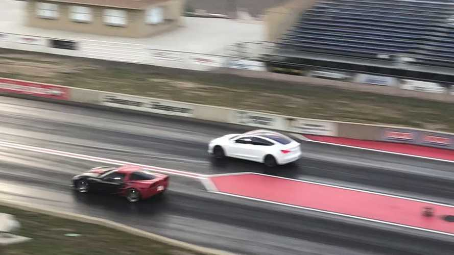 Watch This Tesla Model 3 Performance At The Strip