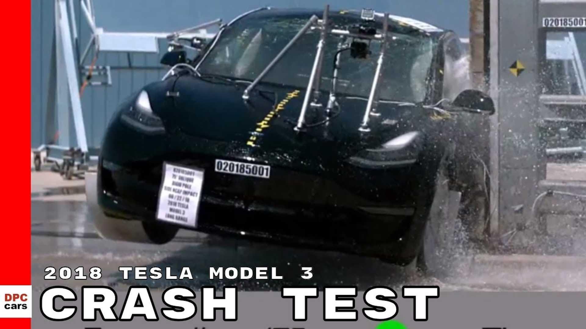 Watch Slo-Mo Video Of Tesla Model 3 Crash Test: Plus Bolt Comparison