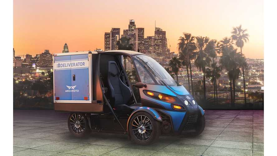 Arcimoto Deliverator Prime For Pizza and Package Delivery