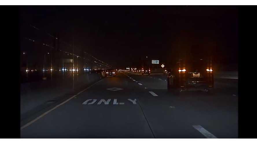 Watch Tesla Dashcam Capture Honda Smash Into Freeway Wall: Video