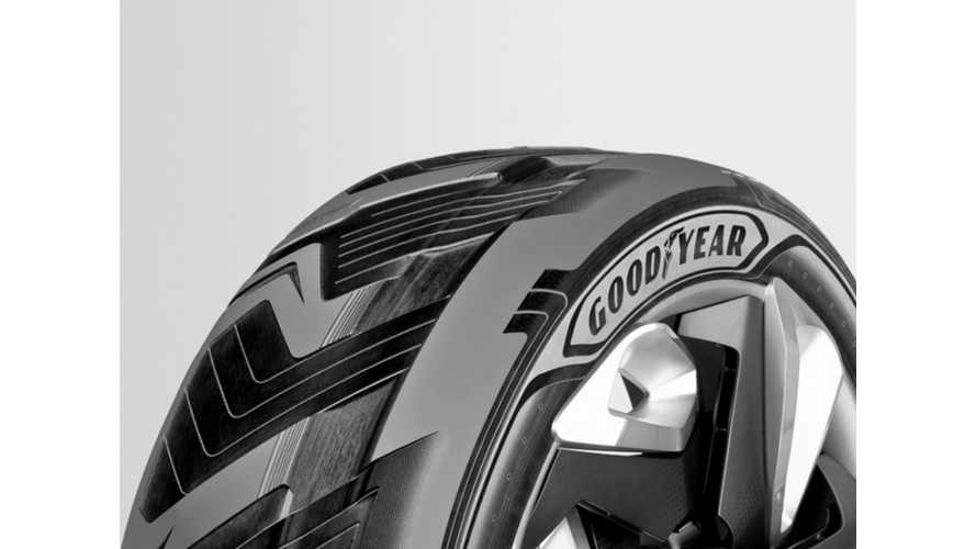 Goodyear Concept BH03 Electricity Generating Tire - A New Form of Range Extender?