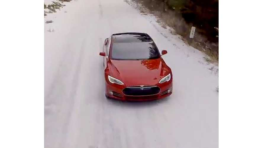 Tesla Produced Video Shows Model S P85D In The Cold, Snow