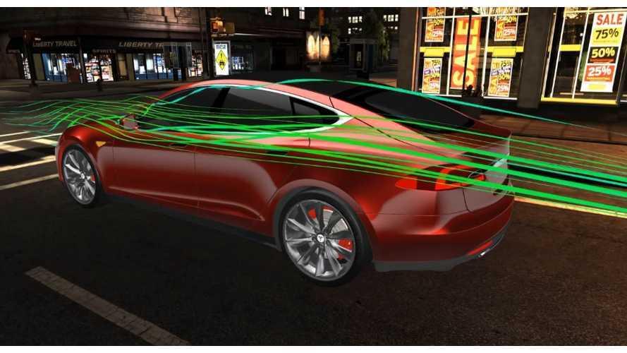 Digital Wind Tunnel Video Shows Aerodynamics Of Tesla Model S