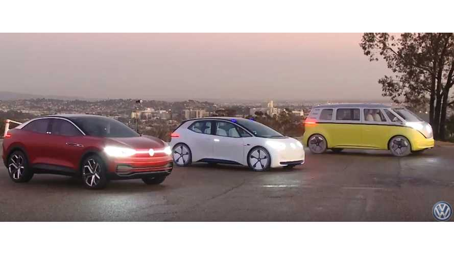 Volkswagen's I.D. Trio (I.D., Buzz, Crozz) Meets For First Time