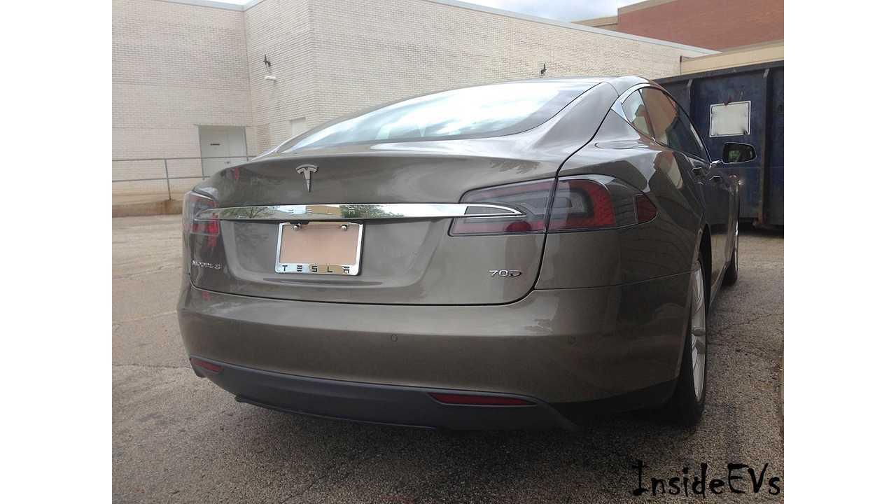 Tesla Model S 70D in New Titanium Metallic Paint.