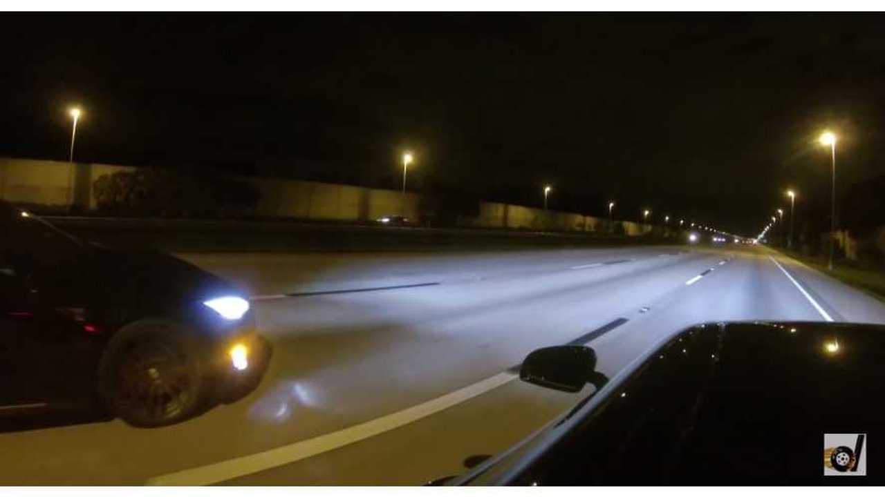 Tesla Model S P85D Versus Mercedes AMG GT S - Drag Race Video