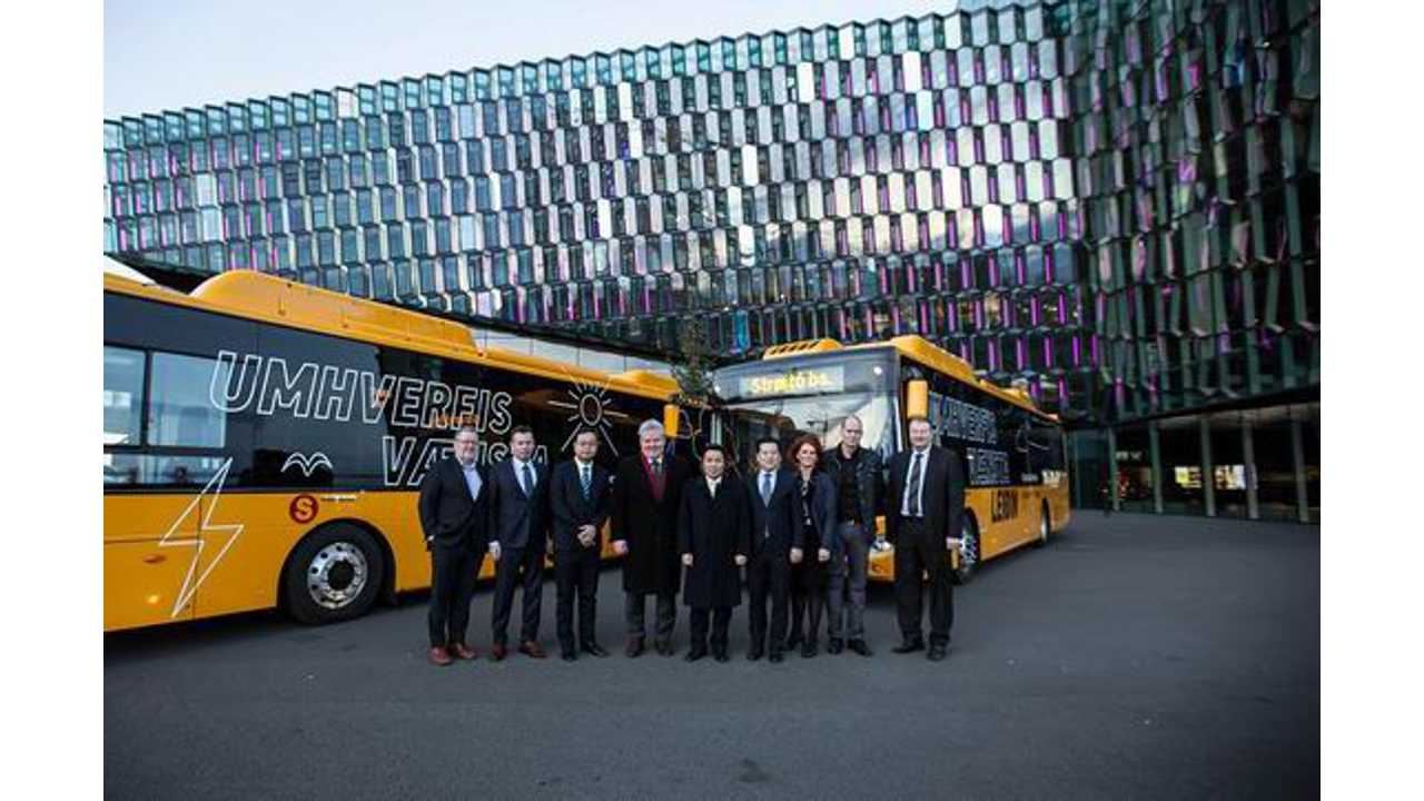 Yutong electric buses in Iceland
