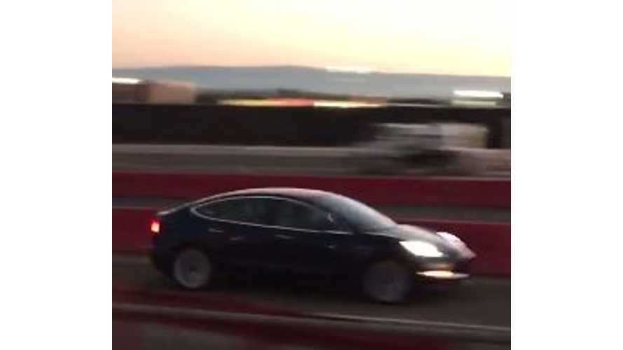 Tesla Model 3 High-Speed Test Run - Video