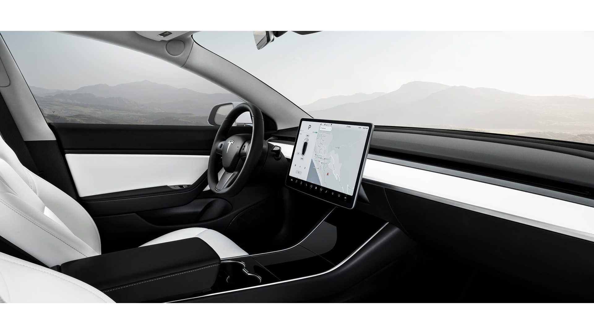White Interior Now Available In Dual Motor Tesla Model 3