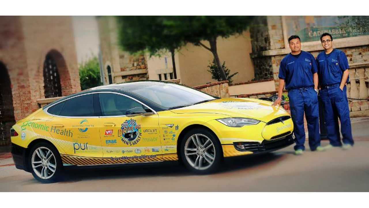 Drive For Men's Health: One Tesla. Millions Of Men. 24 Hours.