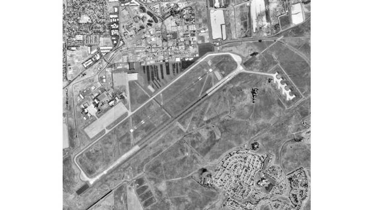 mather airport aerial shot circa 1998