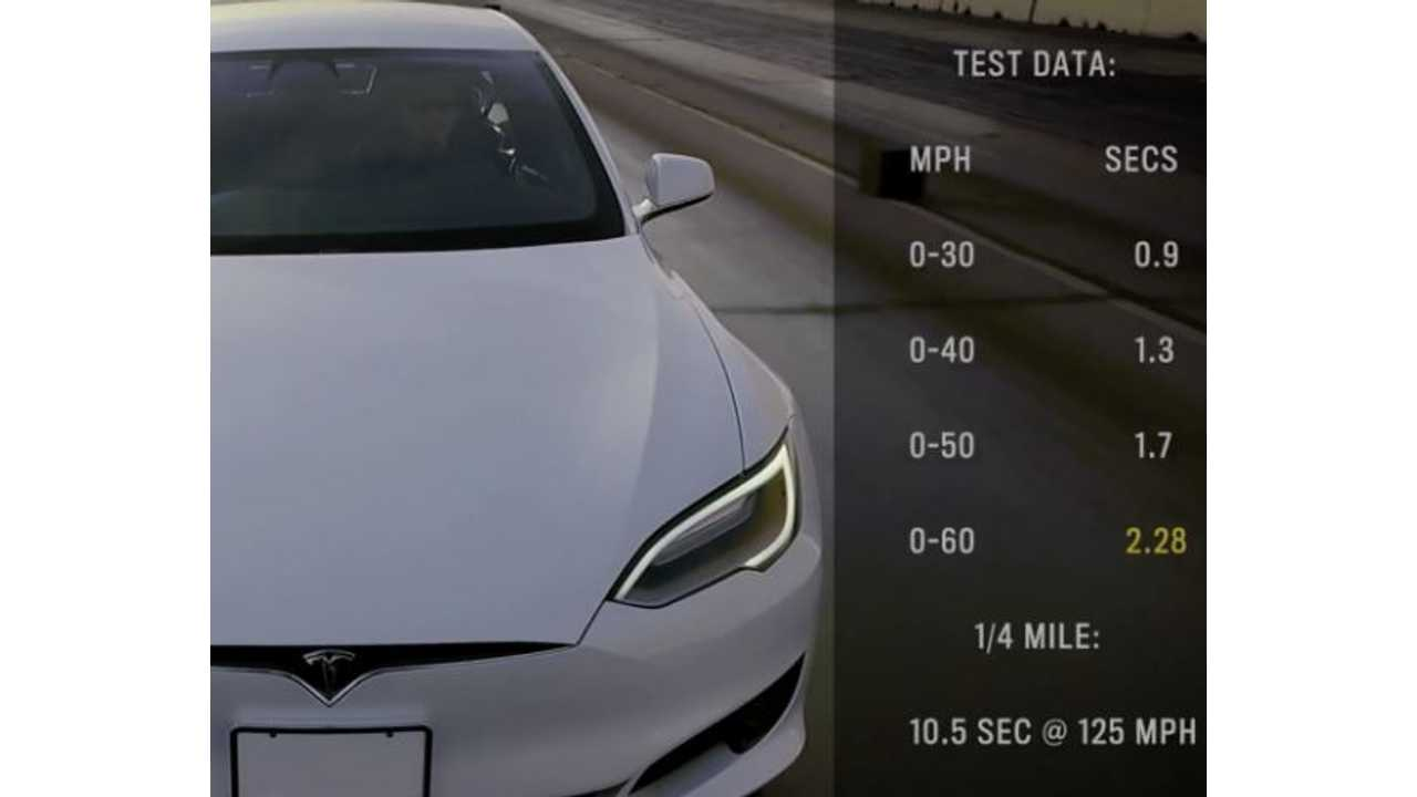Tesla Model S P100d With Ludicrous Accelerates From 0 To 60 Mph In 2 28 Seconds