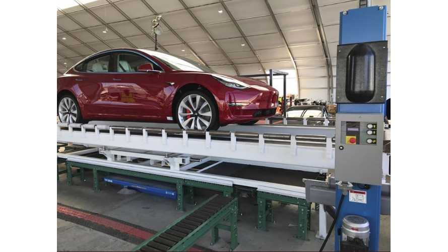 Musk Posts Image Of First Tesla Model 3 Performance Rolling Off Line
