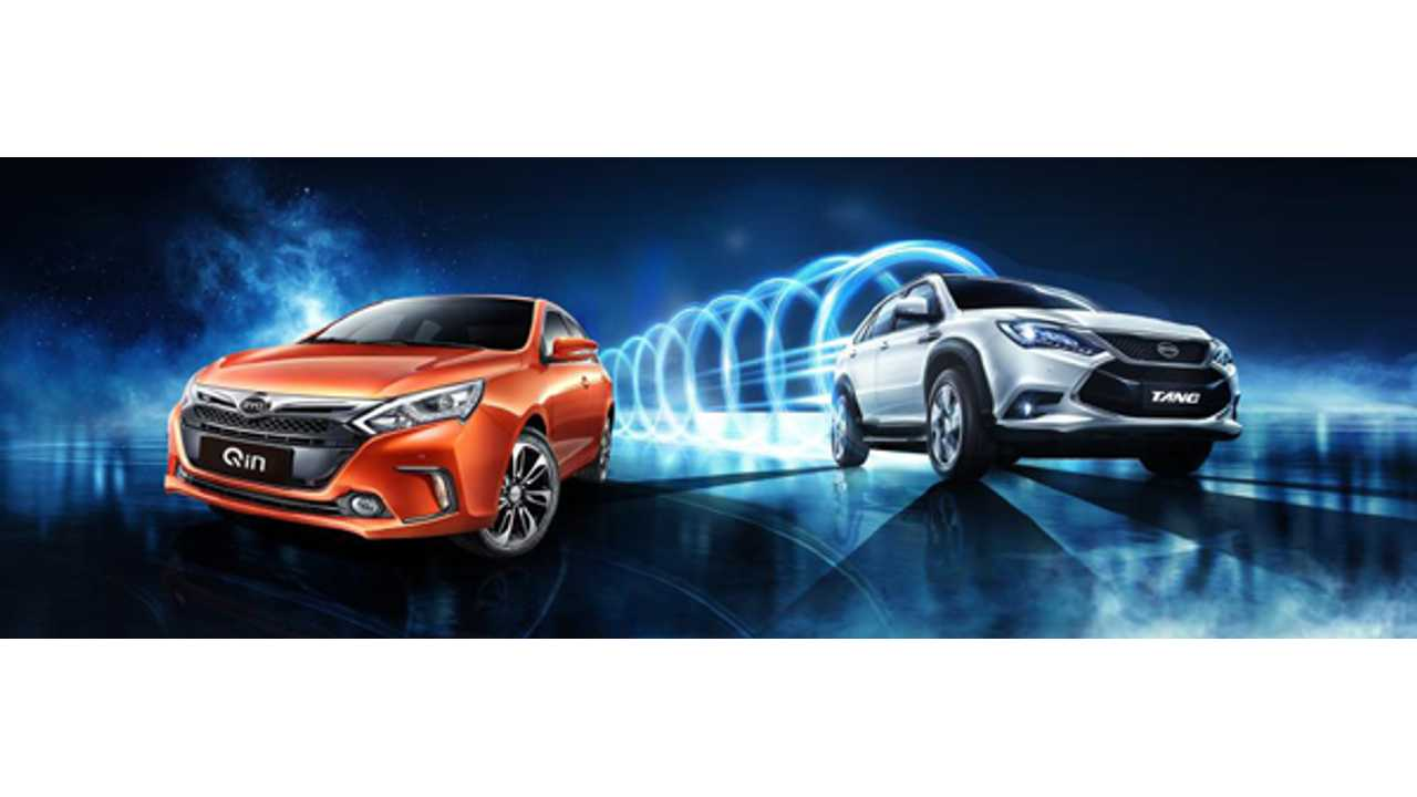 BYD plug-in hybrid vehicles Qin and Tang