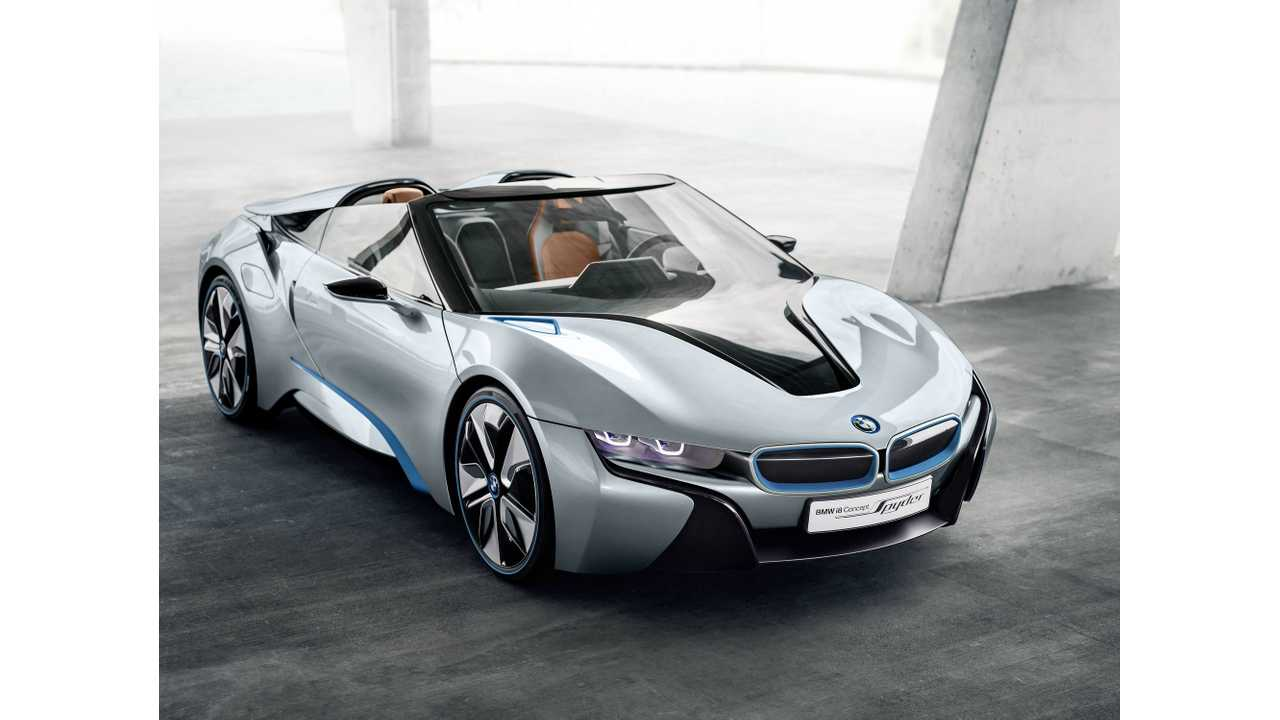 BMW i8 Roadster Rumored To Have Twice The Electric Range Of i8 Coupe