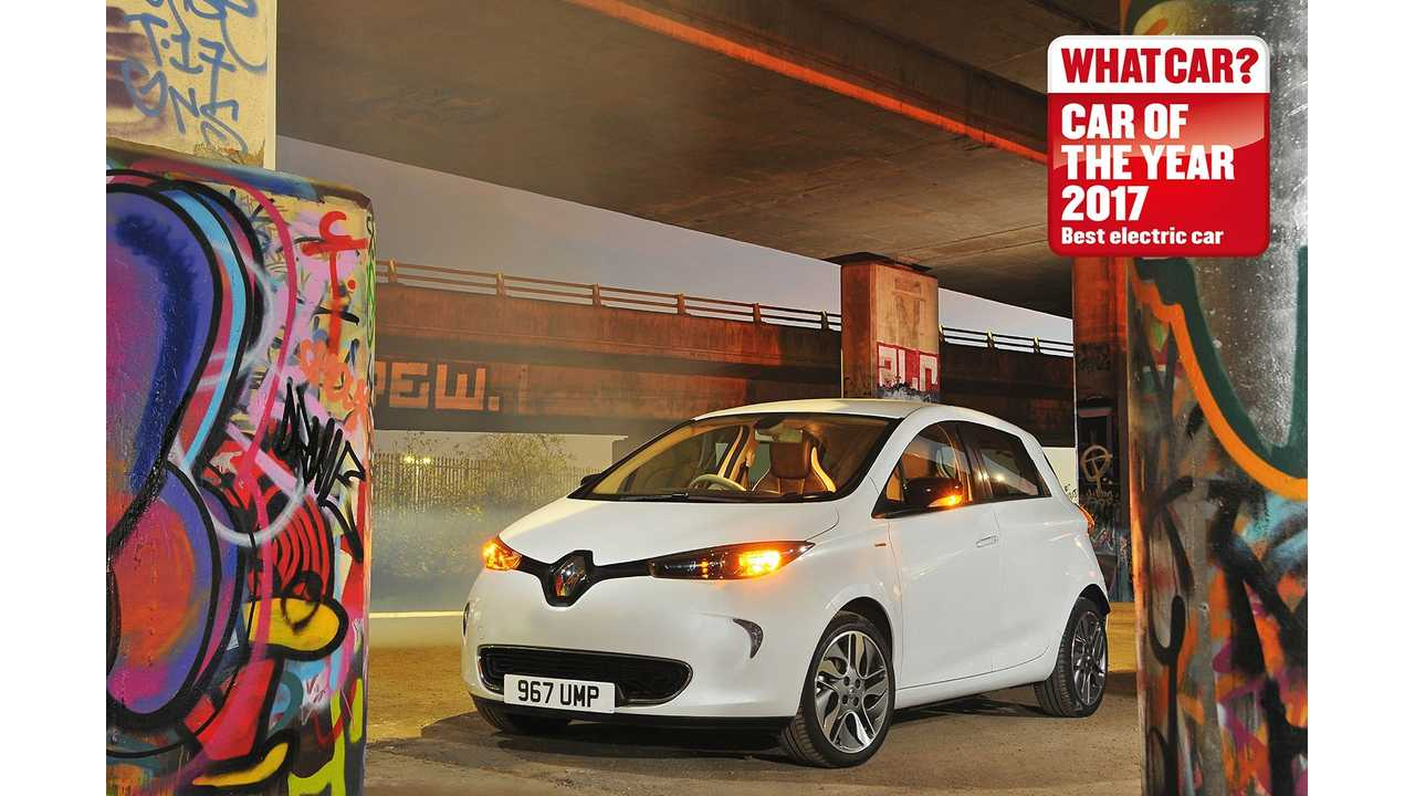 Renault ZOE Wins 2017 What Car? Best EV Award For Fourth Consecutive Year